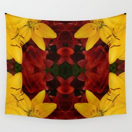 """""""A Gathering of Lilies"""" Remix - 2 (2-1) [D4466~24] Wall Tapestry"""