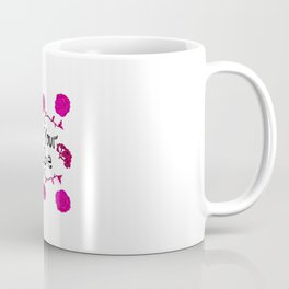 Pink floral 'Not Your Babe' Print Coffee Mug