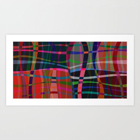 Wobble Weave Bold Art Print