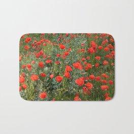 A stroll of poppies Bath Mat