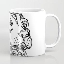 Pit Bull Head Doodle Art Coffee Mug