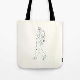 woman with phone Tote Bag