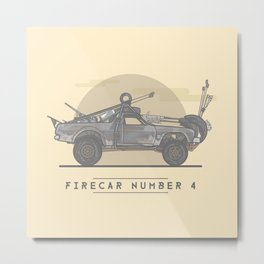 Mad Max: Fury Road - Firecar Number 4 Metal Print