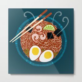 Ramen Noodles for Lunch Metal Print