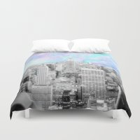 new york city Duvet Covers featuring New York City. by 2sweet4words Designs