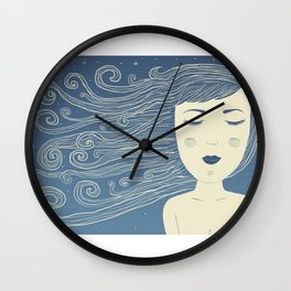 The Moon In Human Form Wall Clock