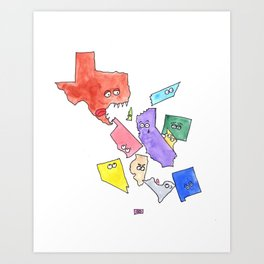 My State Can Eat Your State Art Print