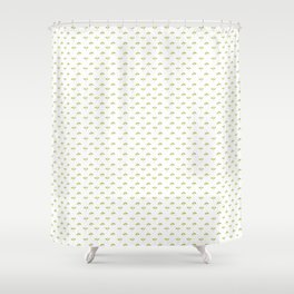 Tiny flowers pattern - watercolor Shower Curtain