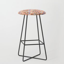 red topography Bar Stool