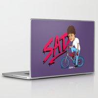 sad Laptop & iPad Skins featuring Sad by Chris Piascik