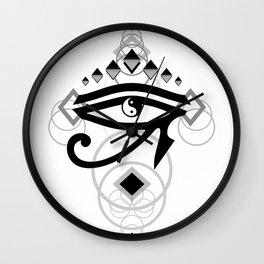 Eye Of Horus (Yin Yang Crest) - 2 Wall Clock