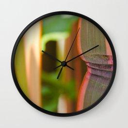 Pleated leaves  Wall Clock