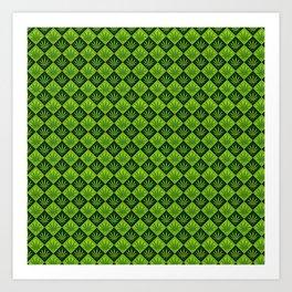 weed pattern Art Print