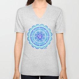 Shades of Blue Ohm Mandala Unisex V-Neck