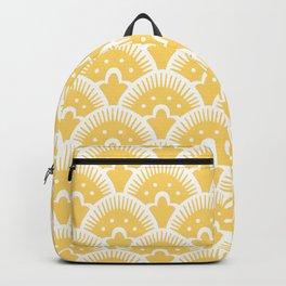 Fan Pattern 331 Yellow Backpack