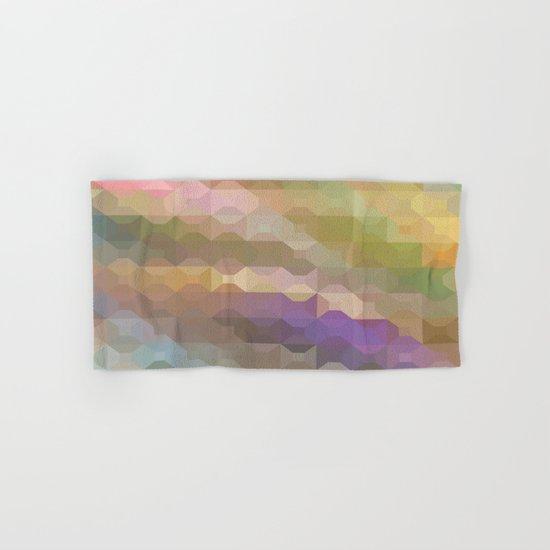 Soft Colored Rainbow Geometric Design Hand & Bath Towel