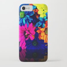 Neon Daisies iPhone 7 Slim Case