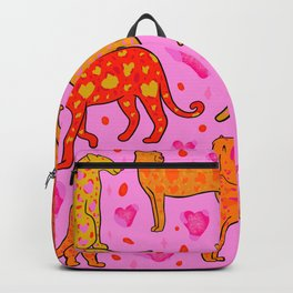 Valentine Leopard Print Backpack
