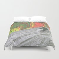 rasta Duvet Covers featuring Rasta Corner by Calepotts
