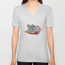 Watercolor Fox  Unisex V-Neck