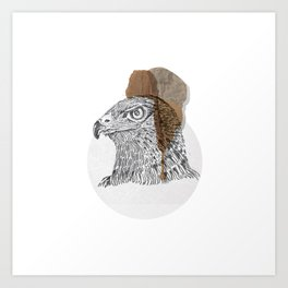 Native wood eagle Art Print