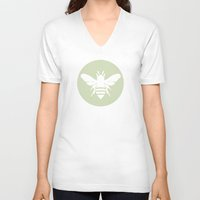 beetle V-neck T-shirts featuring Beetle by Lídia Vives
