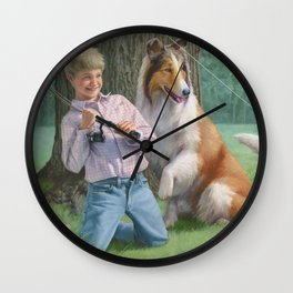 Timmy and Lassie Wall Clock