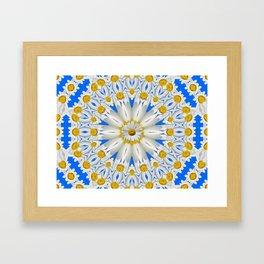 Daisy Chain Kaleidoscope A151 Framed Art Print