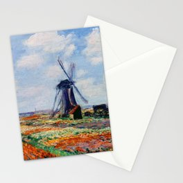 Claude Monet Tulip Field In Holland Stationery Cards