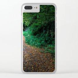Golden Autumn lane Clear iPhone Case