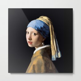 Girl with a Pearl Earring - Jonah Vermeer Metal Print