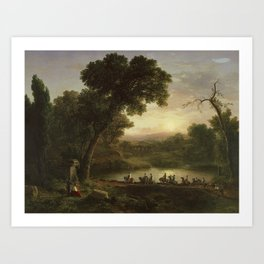 March of the Crusaders by George Inness, Sr. Art Print