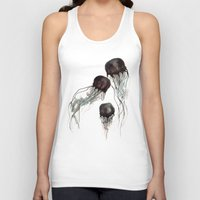 jellyfish Tank Tops featuring Jellyfish by Hana Robinson