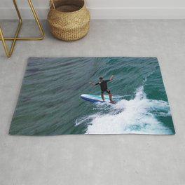 sometimes you just have to go with the waves Rug