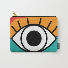 Bright Rainbow Eye Design Carry-All Pouch