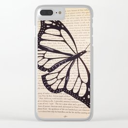 Butterfly in a Book Clear iPhone Case