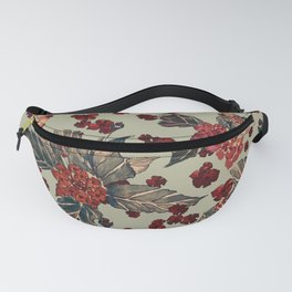 Deep moody floral watercolor Fanny Pack