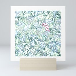 A Leaf Among Leaves Mini Art Print