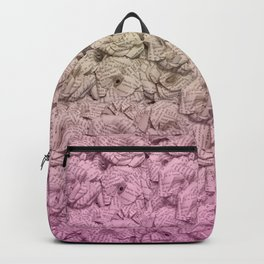 Pastel Pink Ombre Book Flowers Backpack