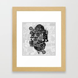 Hungry Gears (negative) Framed Art Print