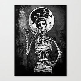 Rockabilly Skel Canvas Print