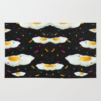 egg Area & Throw Rugs featuring Funky Egg Galaxy by Danny Ivan