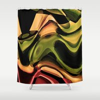 rustic Shower Curtains featuring Rustic by AlexinaRose