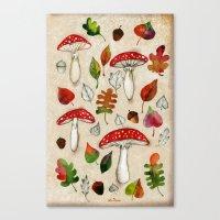 mushrooms Canvas Prints featuring Mushrooms by Minasmoke