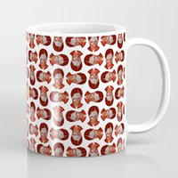 moulin rouge Mugs featuring ROUGE by Jeremy Parigi