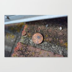 Find a penny heads up all day you'll have good luck! Canvas Print