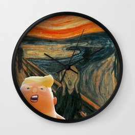 Trump Baby & The Scream Wall Clock