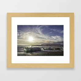 Jokulsarlon Lagoon Beach 03 Framed Art Print