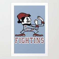 Fightins Art Print