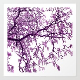 purple tree XXVII Art Print